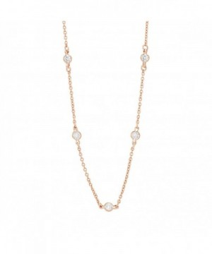 Lesa Michele Zirconia Necklace Sterling