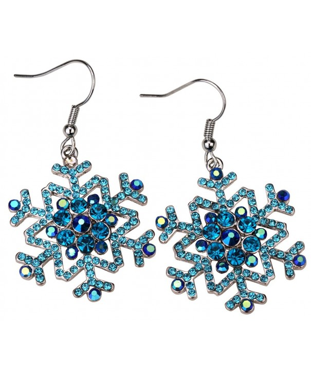 YACQ Jewelry Snowflake Earrings Christmas
