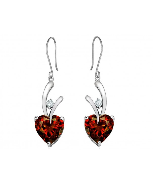 Star Simulated Hanging Earrings Sterling