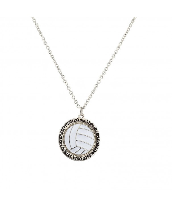 Lux Accessories Volleyball Strengthens Necklace