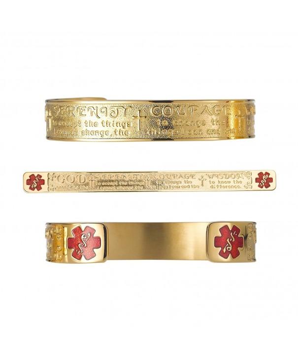 Divoti Engraved Serenity Medical Bracelet