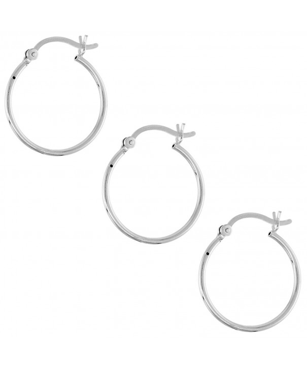 Sterling Silver Earrings Post Snap Closure