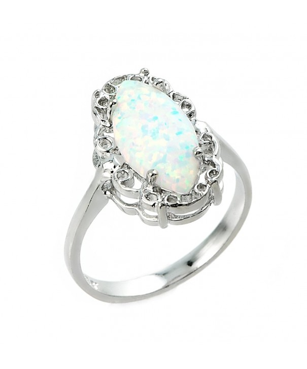 Sterling Silver Statement Solitaire Ring