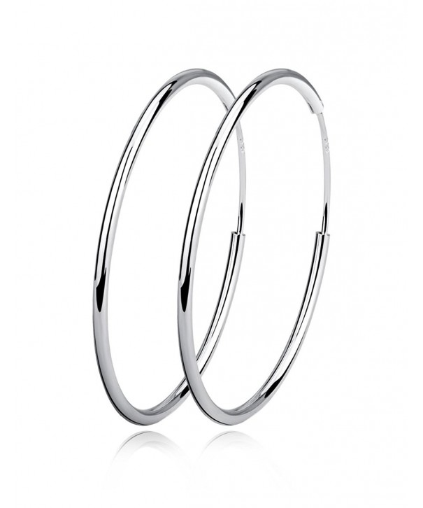 Sterling Silver Circle Endless Earrings