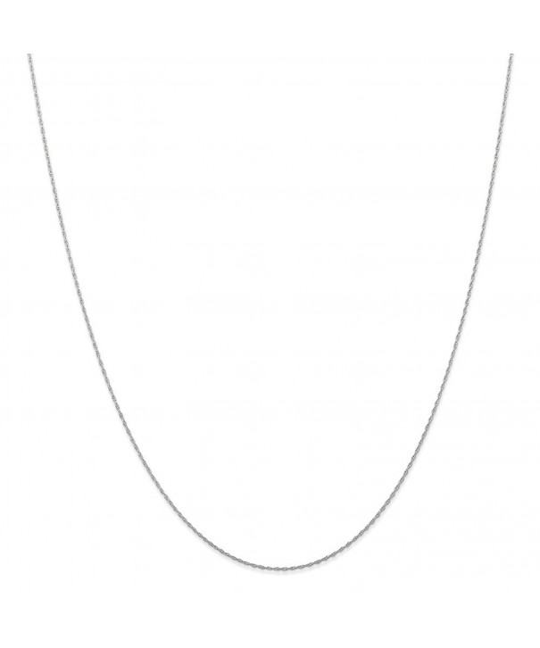 White Carded Cable Necklace Inches