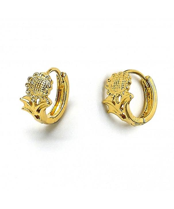 Yellow Gold Tone Ladies Stardust Earrings