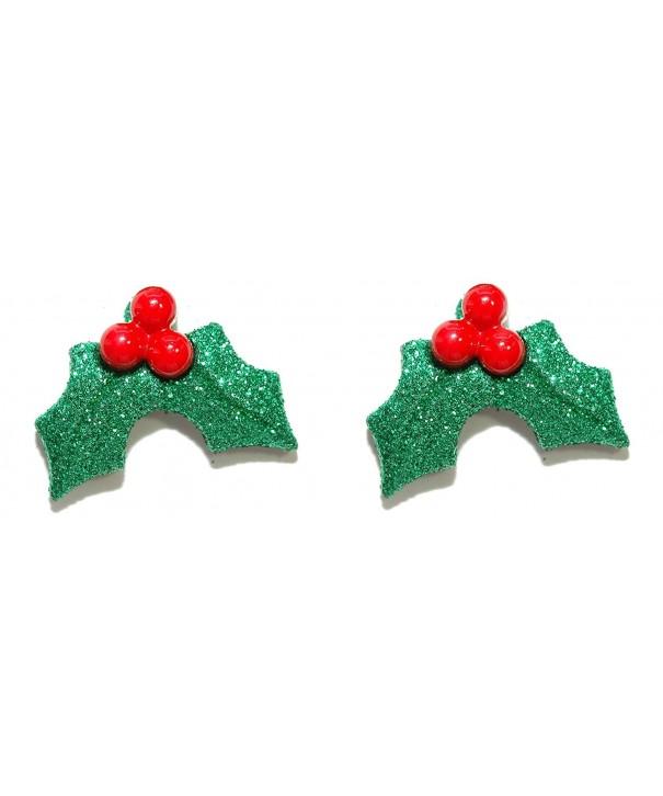 Glittery Christmas Holiday Earrings H036