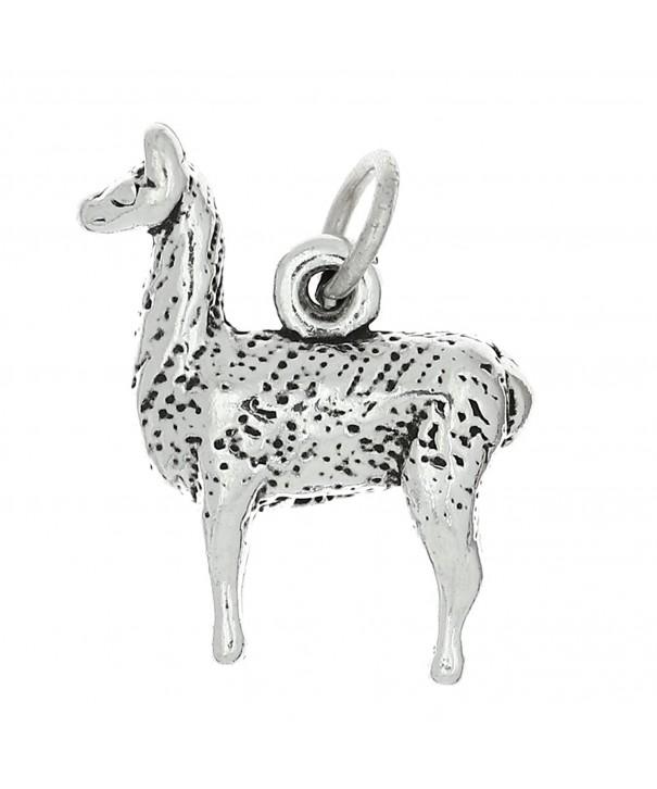 Sterling Silver Oxidized Llama Charm