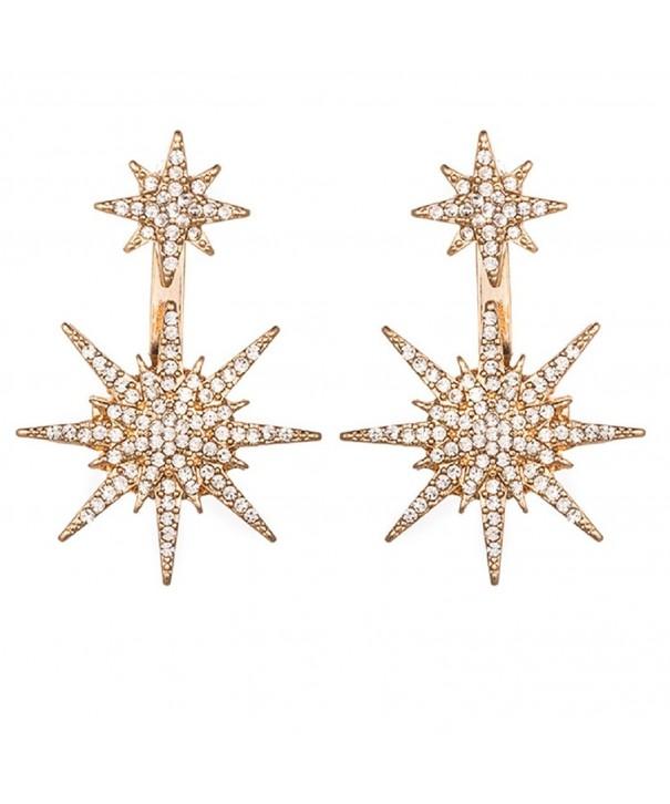 Crystal Rhinestone Geometric Earrings SUNSCSC
