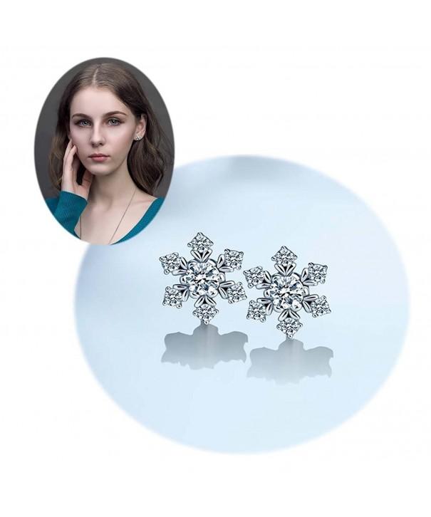 Valentines Earrings Sterling Snowflake Jewelry