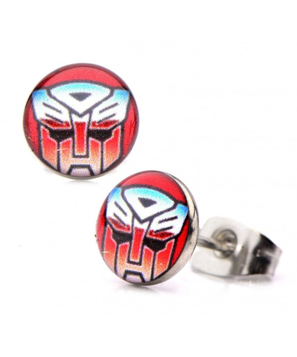 Transformers Earrings Autobot Round Stainless