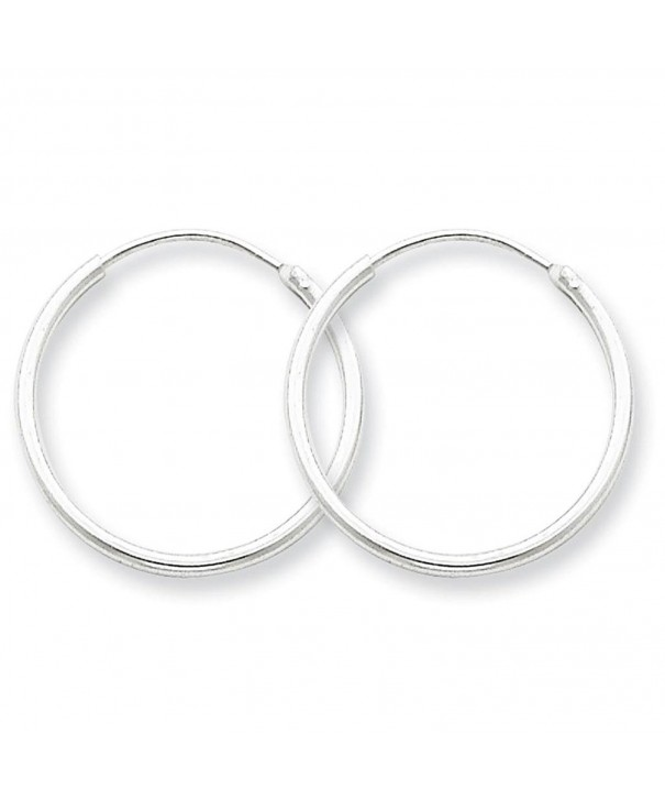 Sterling Silver Polished Endless Earrings