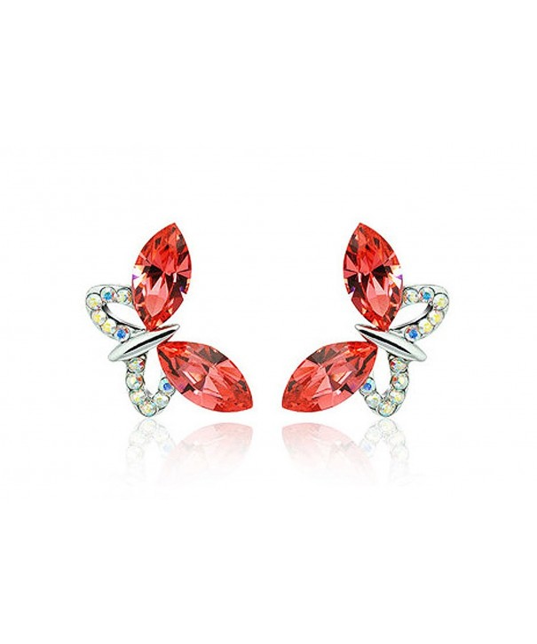 NICOSHINE Butterfly crystal allergy earrings