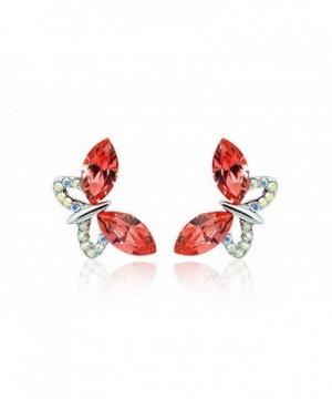 NICOSHINE Butterfly crystal allergy earrings