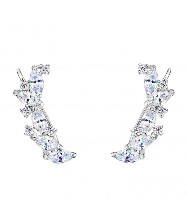 EVER FAITH Sterling Zirconia Earrings