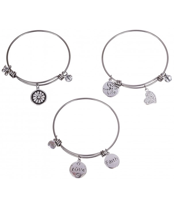 Silver Plated Stainless Expandable Bracelet