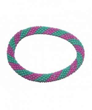 Crochet Glass Bracelet Nepal SB204