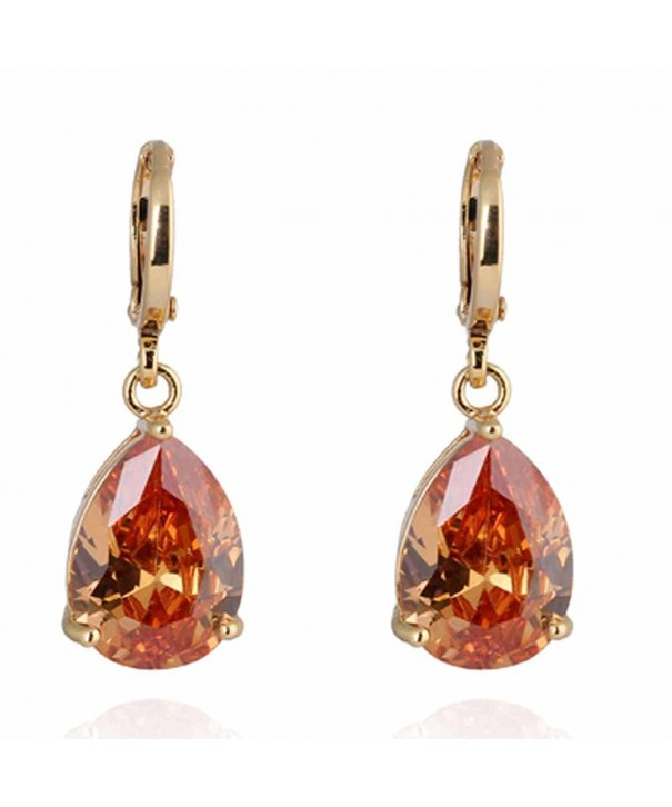 YAZILIND Charming Teardrop Zirconia Earrings
