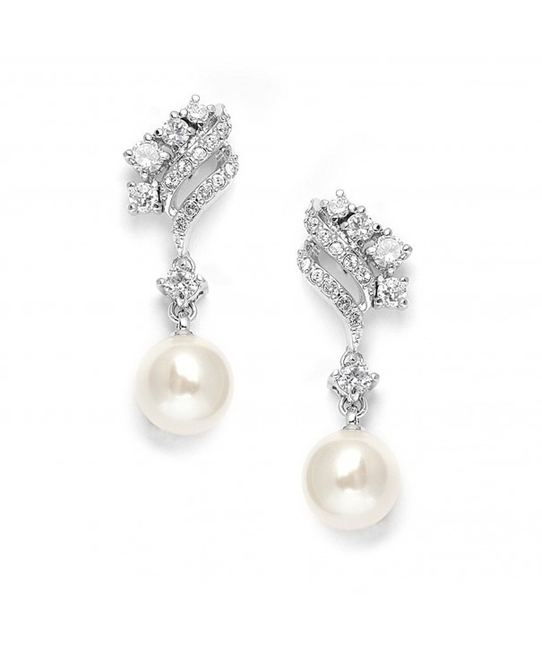 Mariell Graceful Zirconia Wedding Earrings