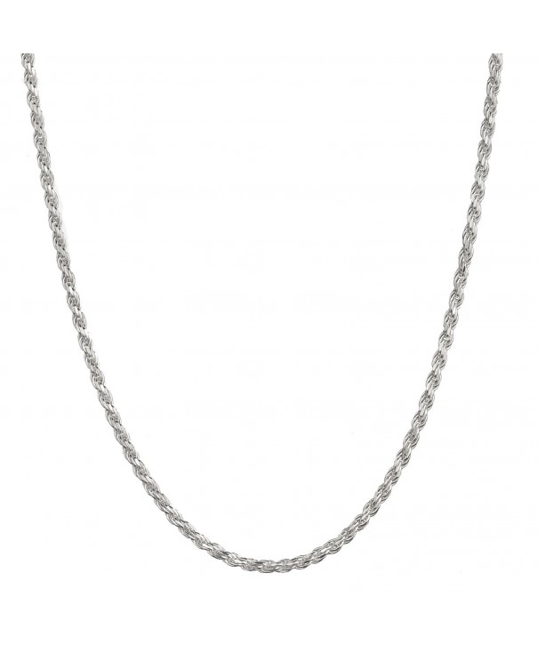 Sterling Silver Italian Diamond Necklace