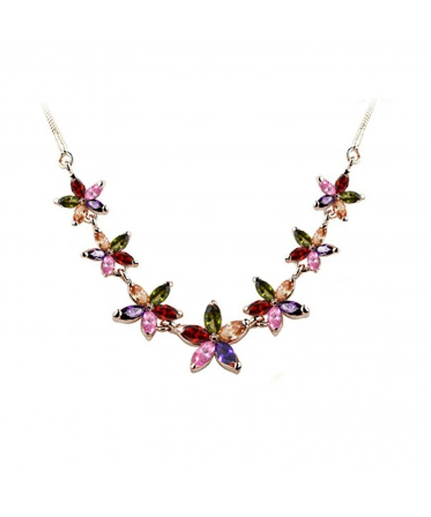 Fashion Plaza Colorful Rhinestone Necklace