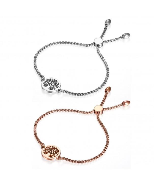 Flongo Vintage Stainless Hollowed Bracelet