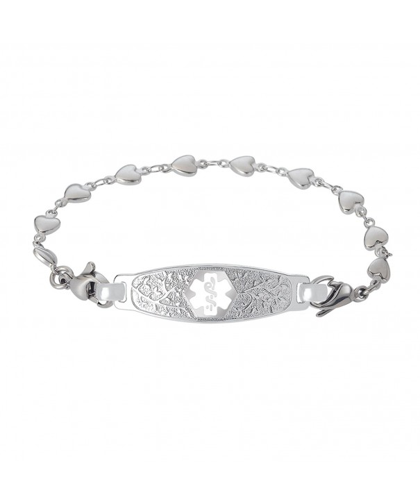 Divoti Engraved Beautiful Stainless White 6 5