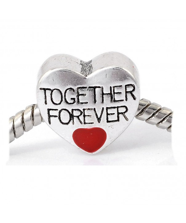 Together Forever Heart Charm Bracelet