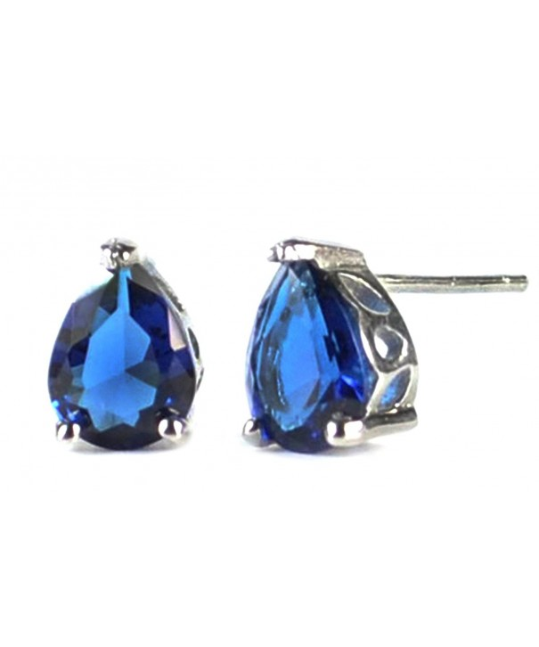 Elensan Sapphire Crystal Earrings Sterling