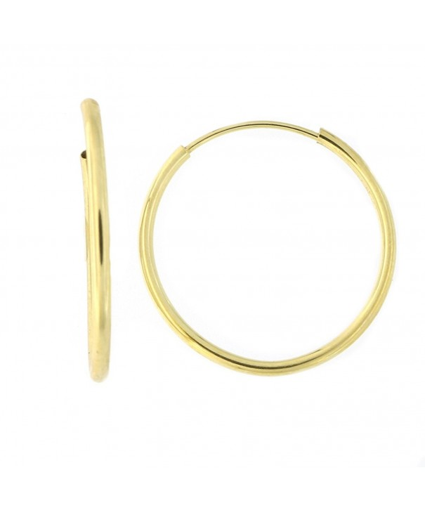 c159c87aa 14k Yellow Gold 1mm Endless Hoop Earrings- 16mm (5/8