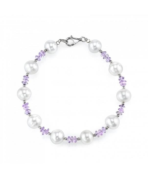 Freshwater Cultured Pearl Amethyst Bracelet