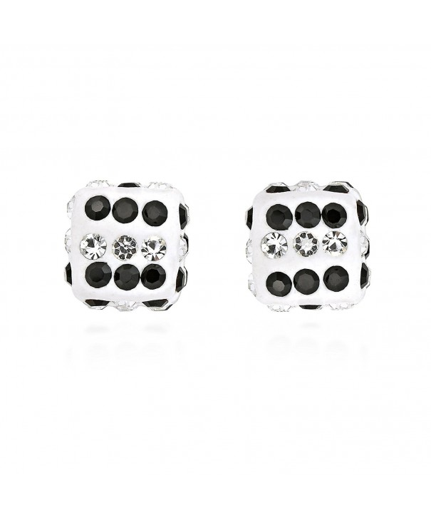 Sparkling Zirconia Sterling Silver Earrings