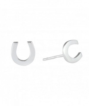 Silverly Sterling Polished Horseshoe Earrings