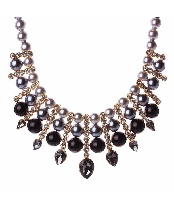 Artificial Chunky Teardrop Rhinestone Necklace