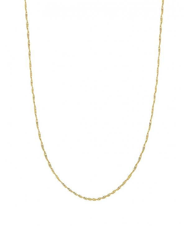 Yellow Singapore Pendant Necklace Inches