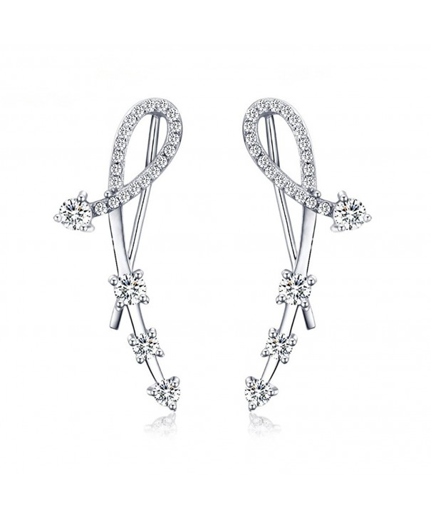 Sterling Simulated Diamond Earrings Zirconia