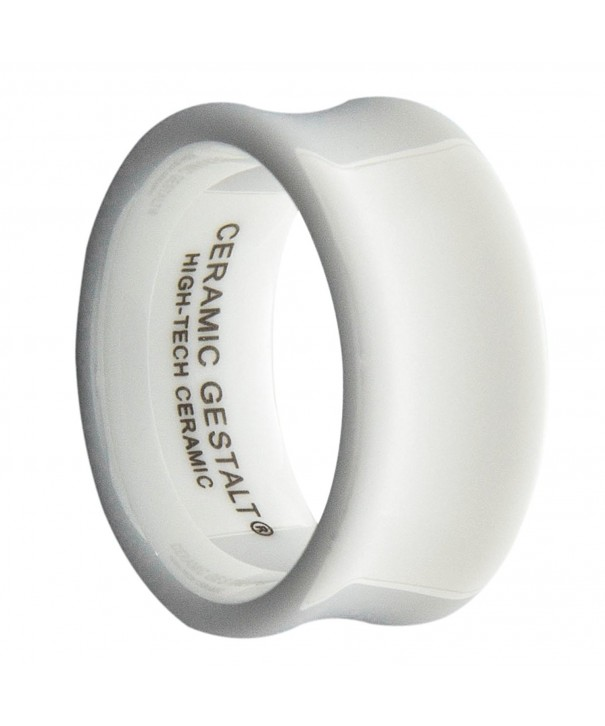 White Ceramic Ring CERAMIC GESTALT
