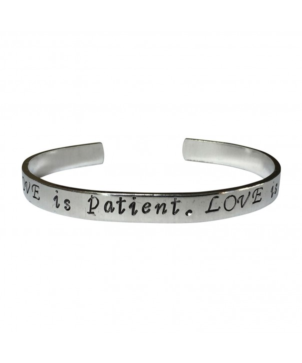 Patient Love Is Kind Hand Stamped