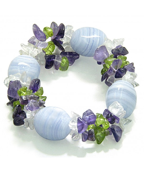Healing Tumbled Crystal Gemstone Bracelet