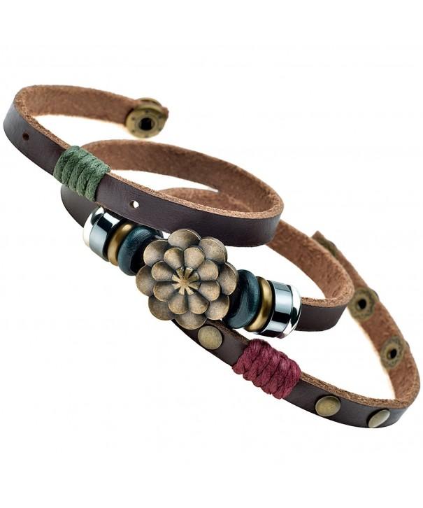 Multilayer Leather Personality Hematite Bracelet