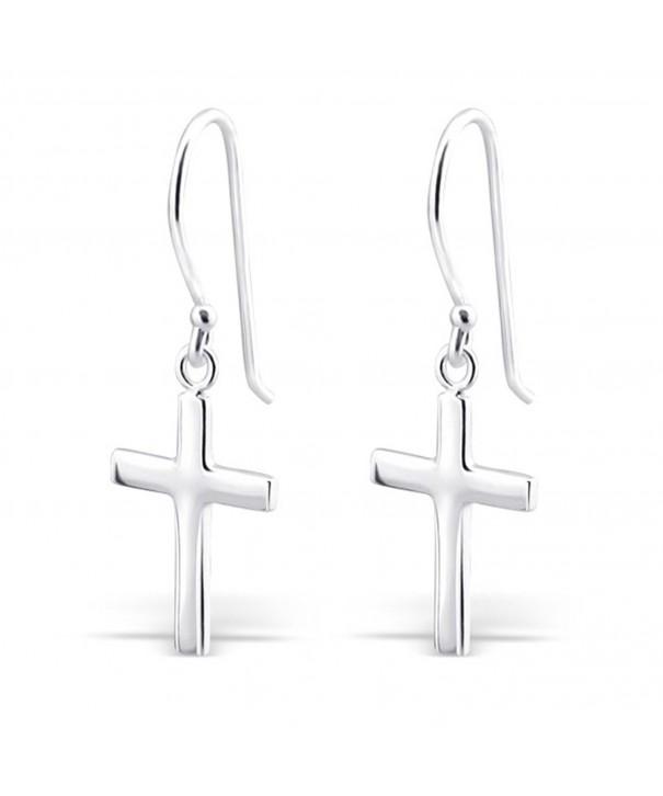 Sterling Silver Cross Earrings Dangle