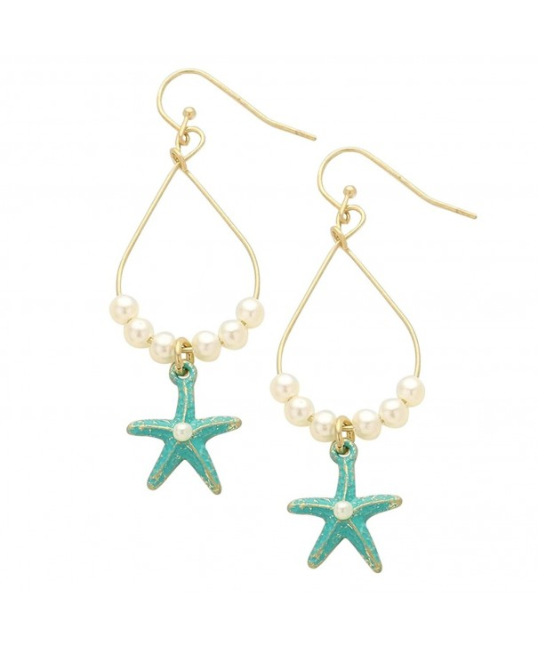 Rosemarie Collections Earrings Starfish Turquoise