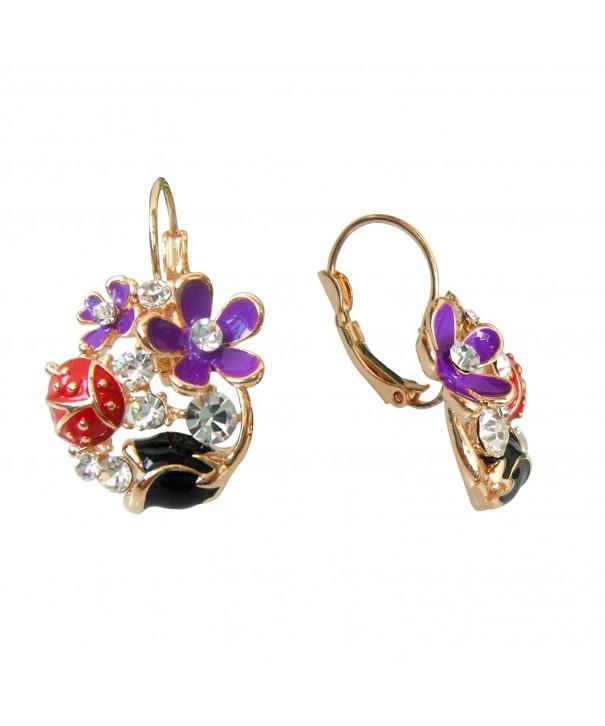 Navachi Crystal Az2679e Leverback Earrings