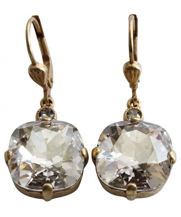 Catherine Popesco Goldtone Crystal Earrings