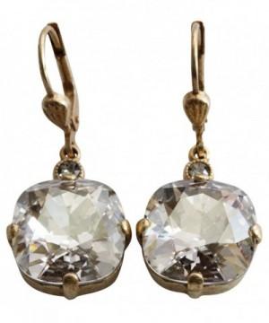 Catherine Popesco Goldtone Crystal Earrings