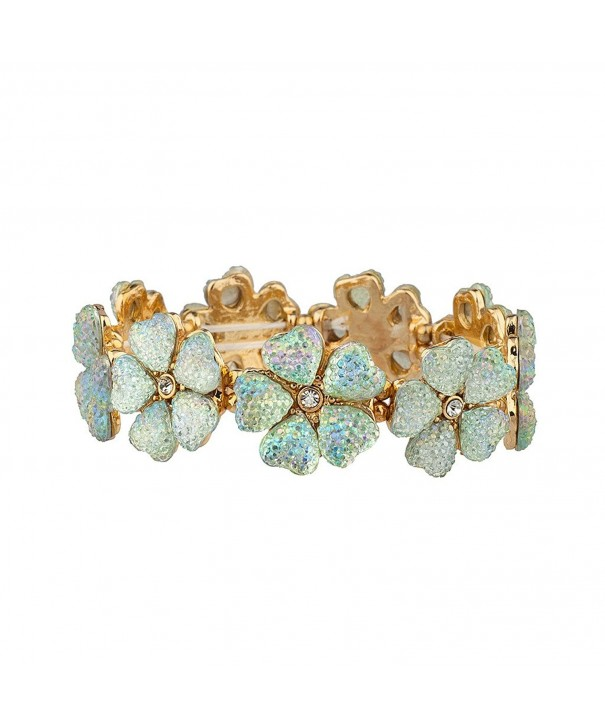 Lux Accessories Crystal Statement Bracelet