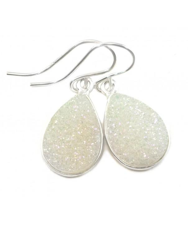 Sterling Silver Earrings Teardrop Silvertone