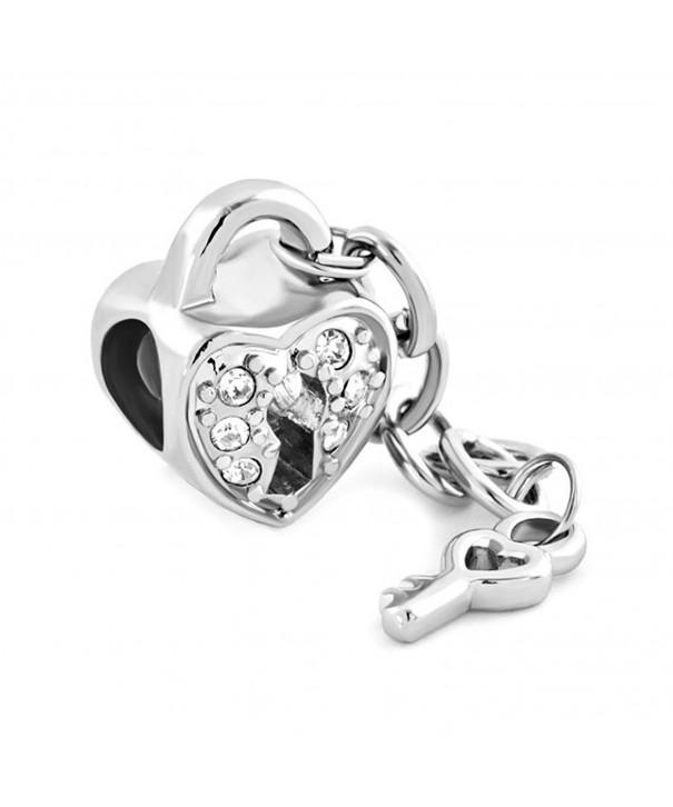LuckyJewelry Valentines Heart Charms Bracelets