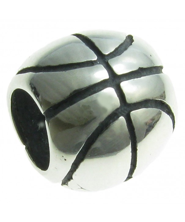 Sterling Silver Basketball European Style