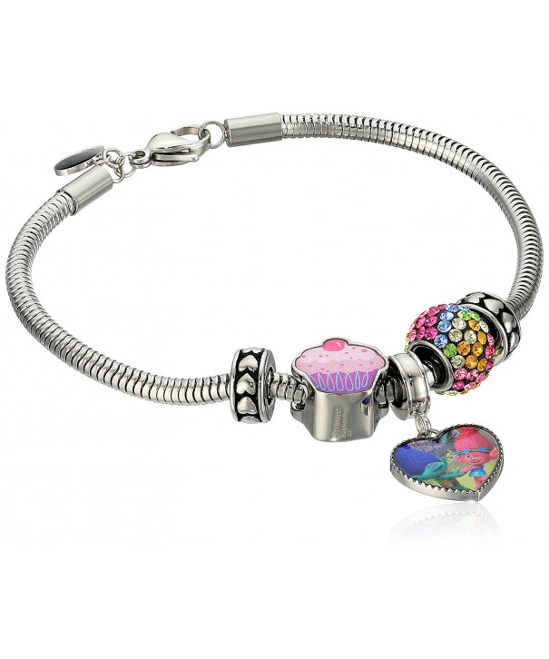 Trolls Stainless Crystal Stoppers Bracelet